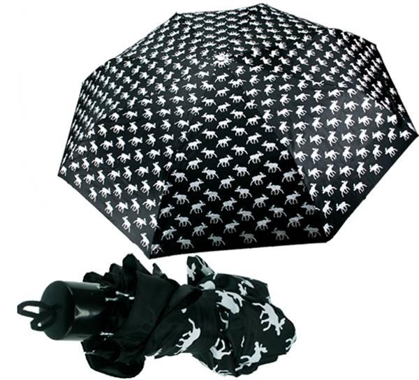 Bilde av Paraply med elgdesign sort/hvit