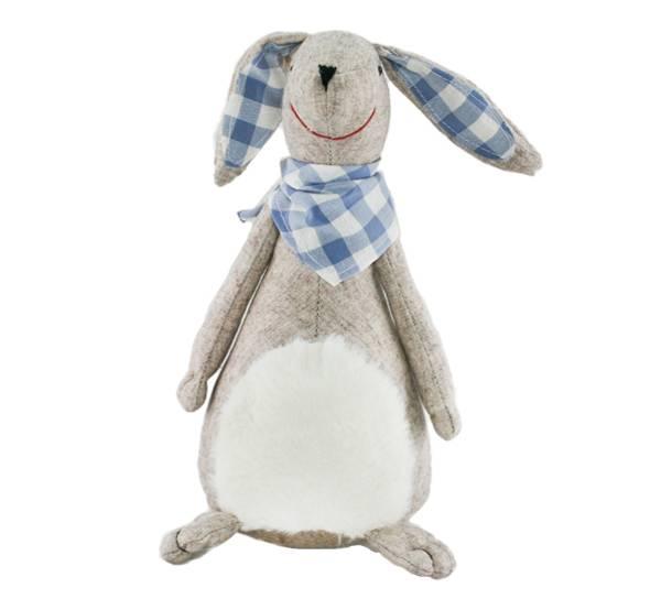 Bilde av Hare med blått skjerf