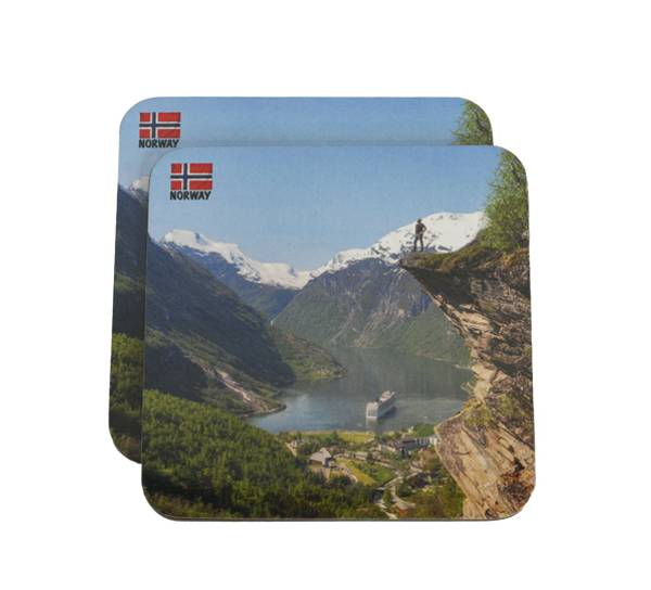 Bilde av Glassbrikker, Flydalsjuvet Geiranger sett av 2