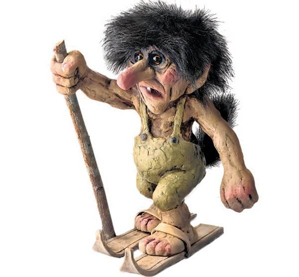 Bilde av Troll med ski  (Troll nr. 122)