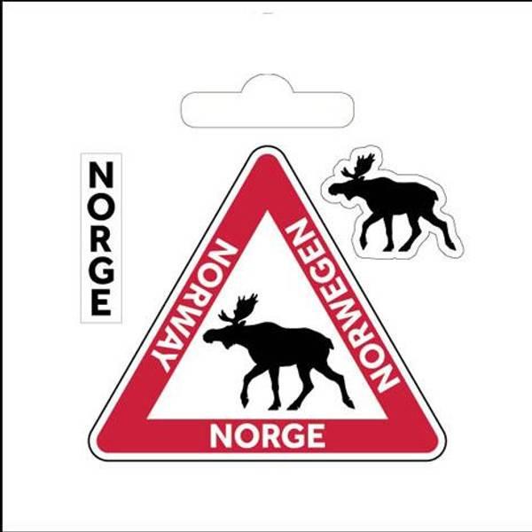 Bilde av Klistremerke, skilt med elg