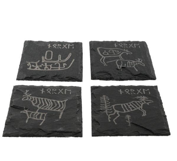 Bilde av Skiferbrikker med runer