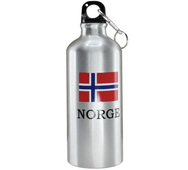 Bilde av Drikkeflaske m/karabinkrok, flagg