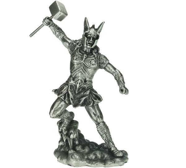 Bilde av Viking med hammer, Thor, tinn