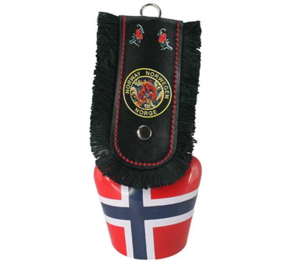 Bilde av Stor bjelle med Norgesflagg rosemaling