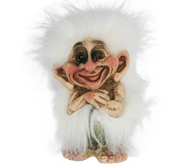 Bilde av Troll med mye hvitt hår  (Troll nr. 114)