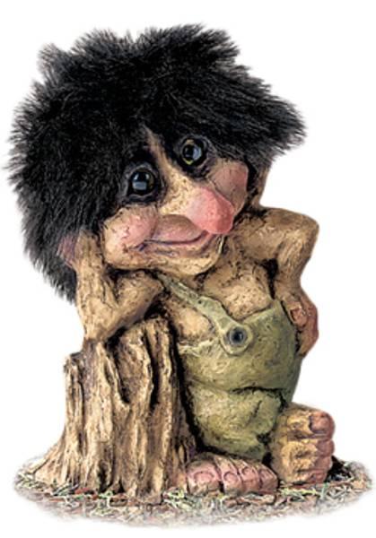 Bilde av Troll ved stubbe  (Troll nr. 265)