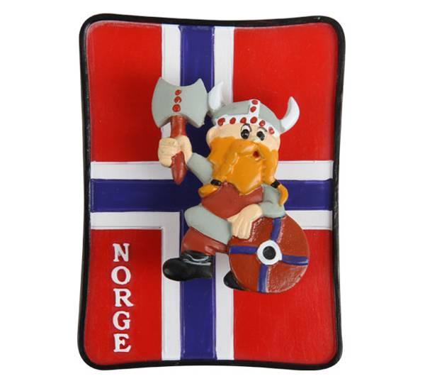 Bilde av Magnet, viking på flagg, Norge