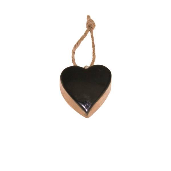Bilde av Sort blankt hjerte av tre, for oppheng, F-design