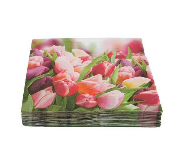 Bilde av Kaffeserviett, tulipaner