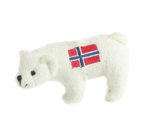 Bilde av Isbjørnmagnet m/flagg Norge
