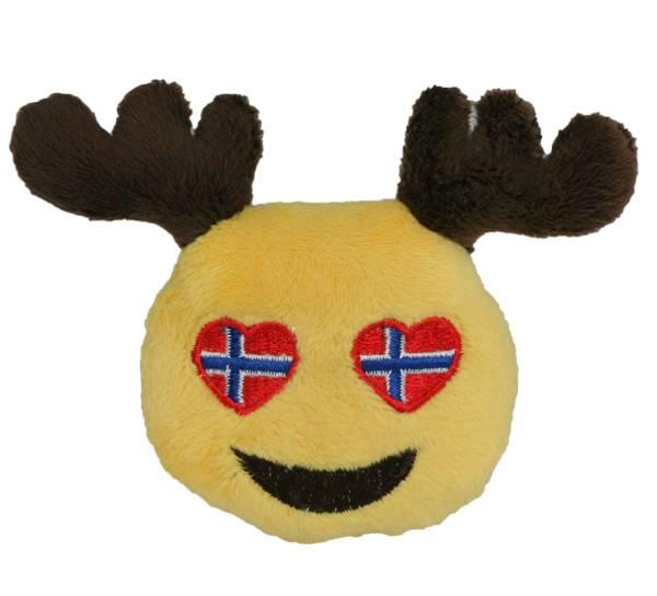 Bilde av Magnet ,smiley elg, norsk flagg