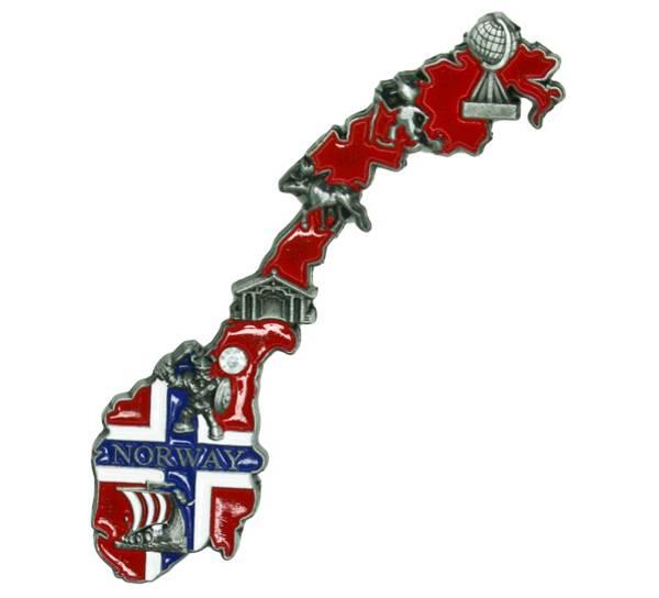 Bilde av Magnet, norgeskart med Norway