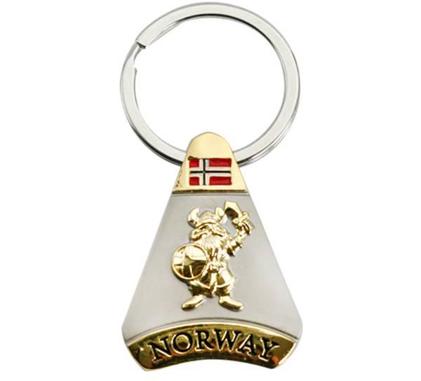 Bilde av Nøkkelring, trekant, gull/ sølv, Viking