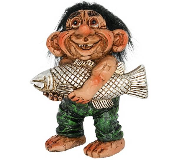 Bilde av Figur, Troll med laks